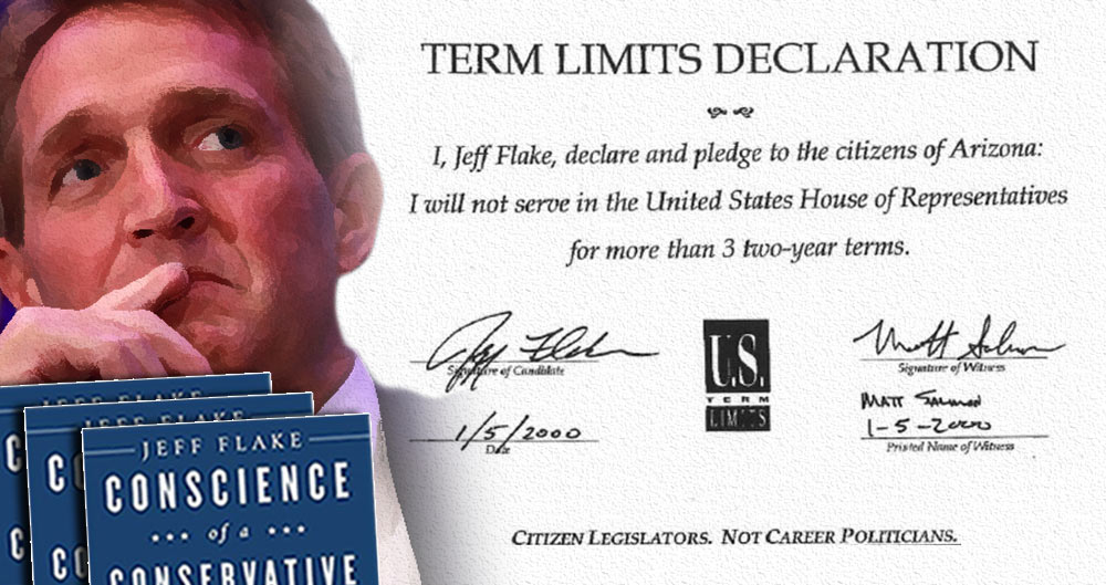 Senator Jeff Flake, Senate, term limits, conservatism, Conscience of a Conservative, Arizona