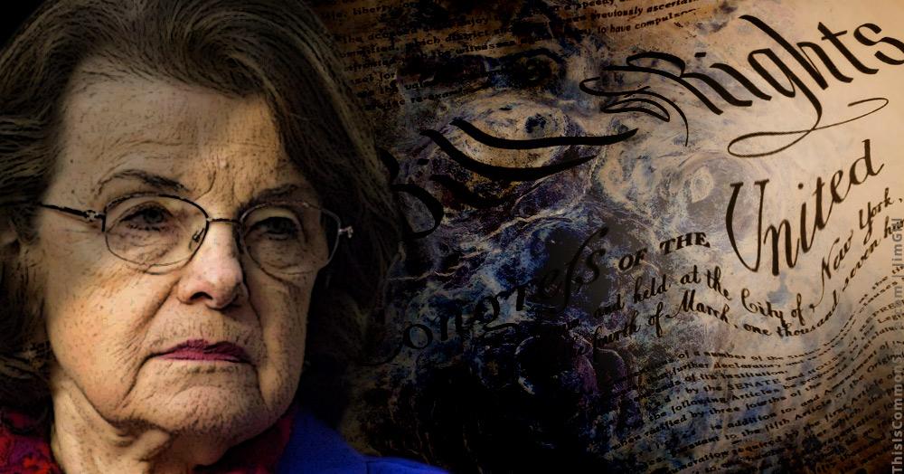 Dianne Feinstein, First Amendment, free speech, censorship
