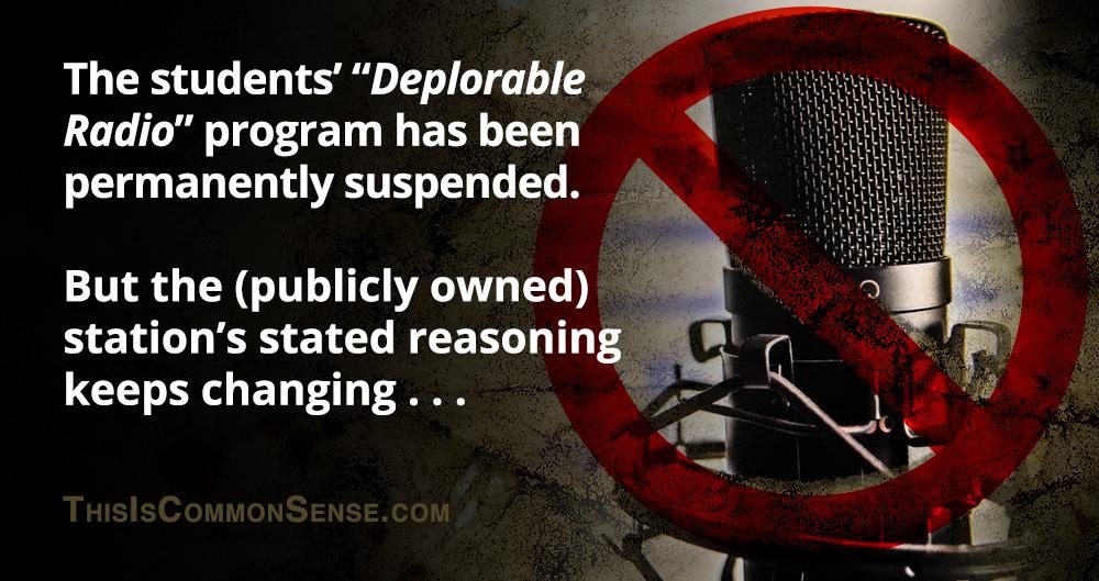 Deplorable radio, censorship, hate speech, tranny, University of Minnesota-Morris