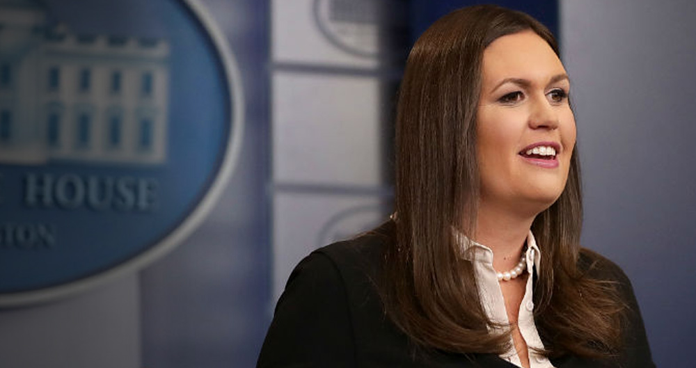 White House Press Secretary Sarah Huckabee Sanders, Thanksgiving, press, outrage