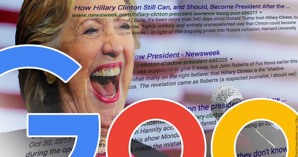 Google, search results, Hillary Clinton, Donald Trump, bias, influence, tampering, election, democracy