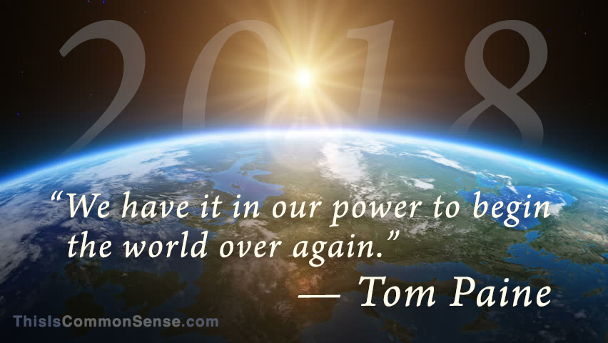 New Year, 2018, Tom Paine, beginning, rebirth, renew