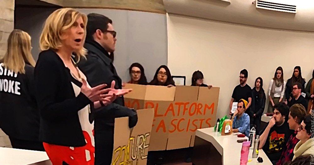 Christina Hoff Sommers, Lewis & Clark Law School, Federalist Society, fascism, free speech, censorship, no platform