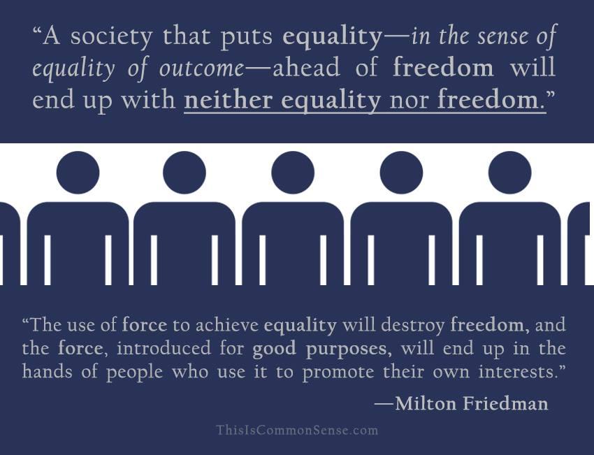 Equality vs. Freedom