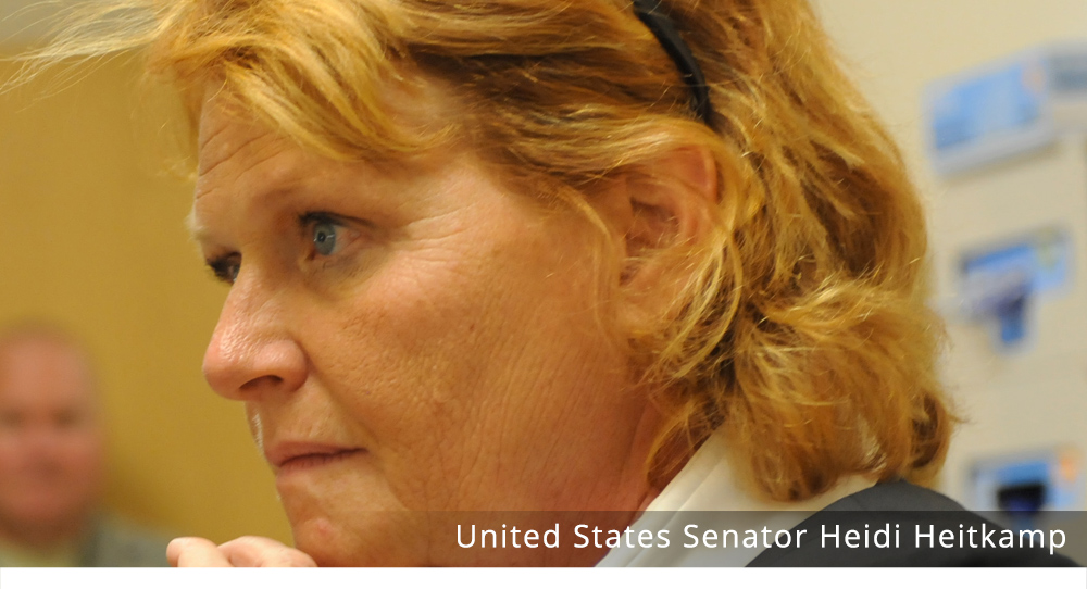 North Dakota's junior U.S. Senator, Heidi Heitkamp, a Democrat, FCC, Rob Port, censorship, freedom of speech, 2nd Amendment