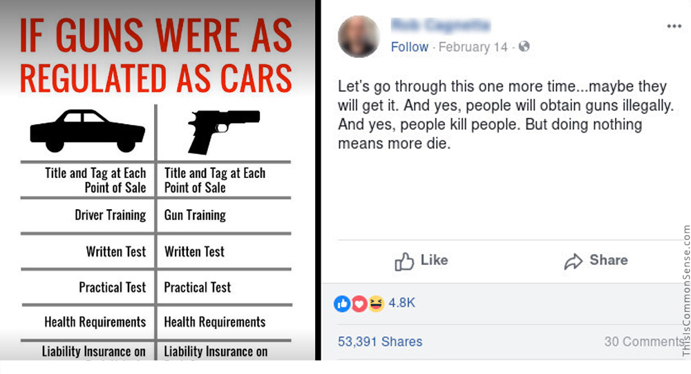 guns, cars, regulations, meme, gun control, second amendment
