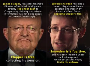 James Clapper and Edward Snowden