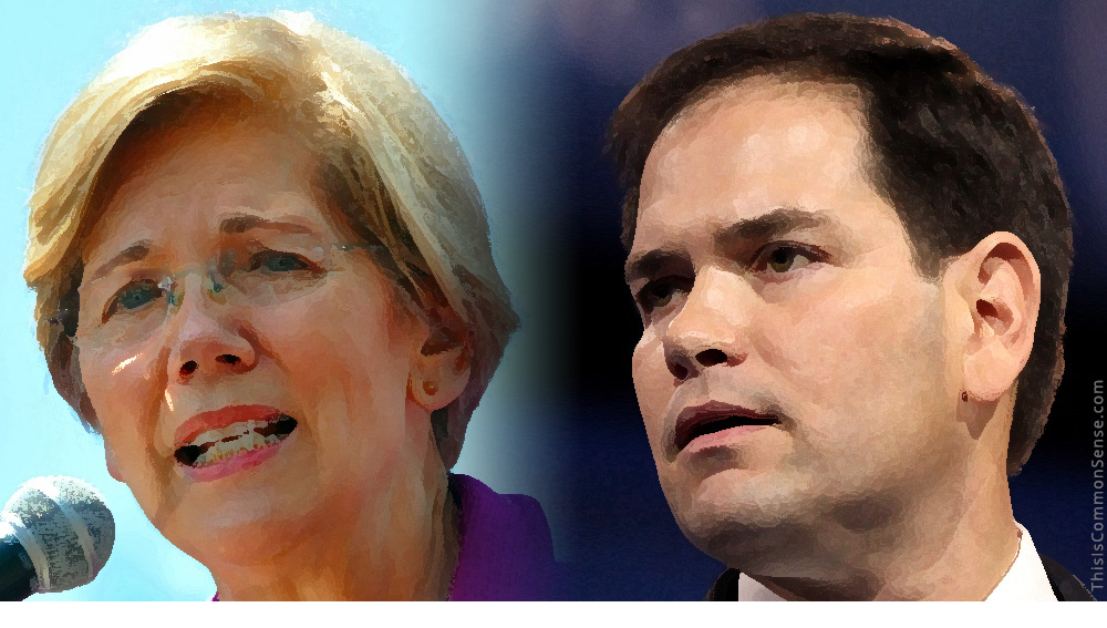 Marco Rubio, Elizabeth Warren, student, loan, debt, Florida, federalism, states, federal, law, college loan