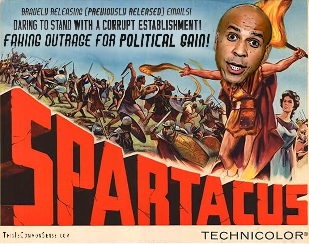 Spartacus, Senator Cory Booker, Brett Kavanaugh, hearings, grandstanding, populism