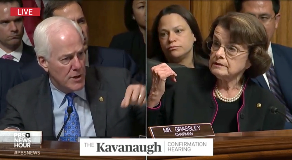 Diane Feinstein, Kavenaugh, Supreme Court