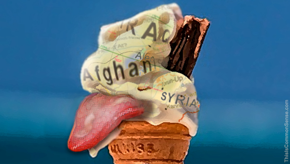self licking ice cream, war, foreign policy, government