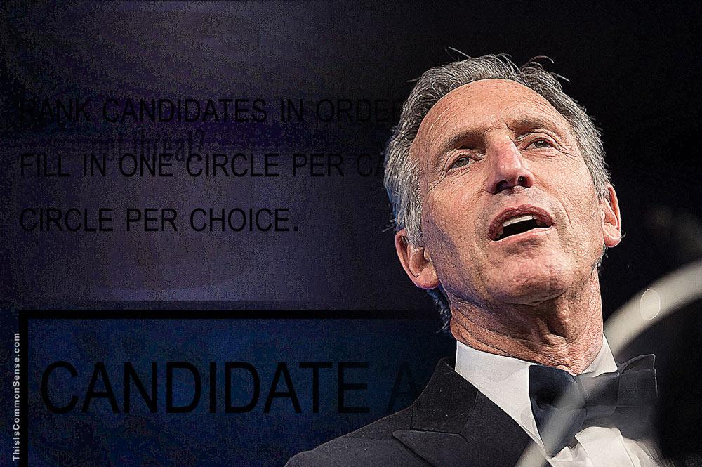 Howard Schultz, candidate, president, coffee, challenge?