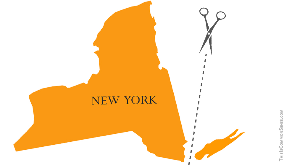 New York, Five Boroughs, split, division,