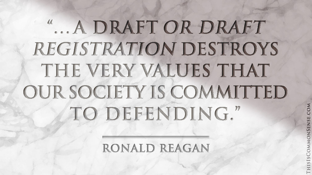 Ronald Reagan on the Draft