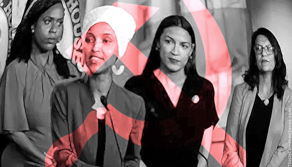 the squad, Alexandria Ocasio-Cortez, lhan Omar,Ayanna Pressley,Rashida Tlaib, socialism, racism,