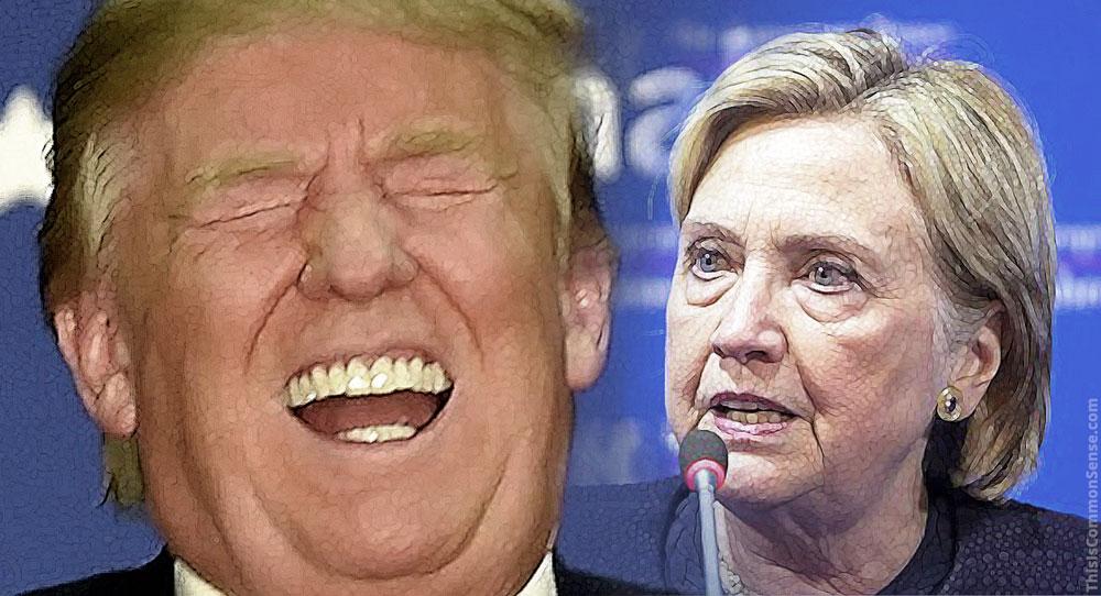 Donald Trump, Hillary Clinton, Twitter,