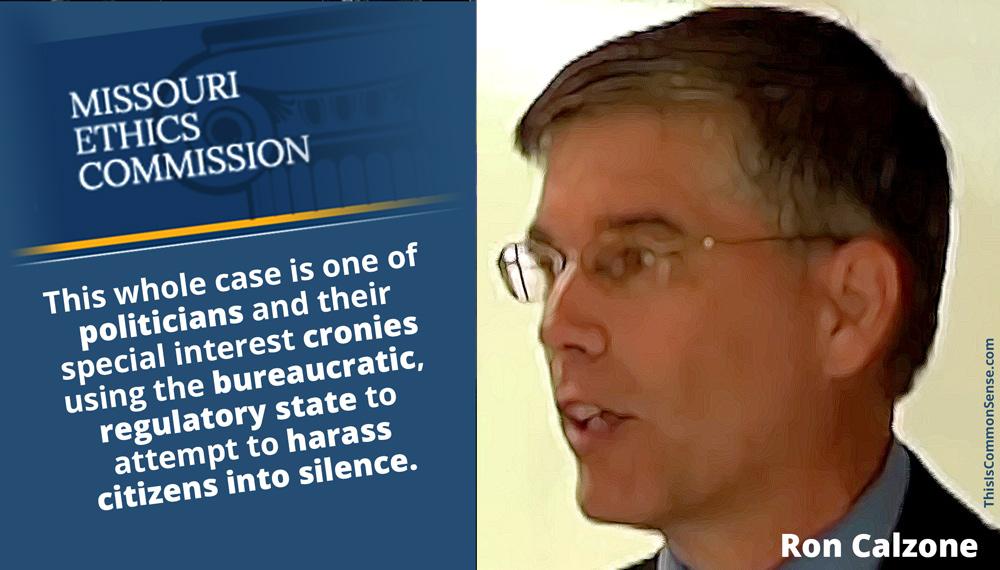 Ron Calzone, Missouri Ethics Commission,