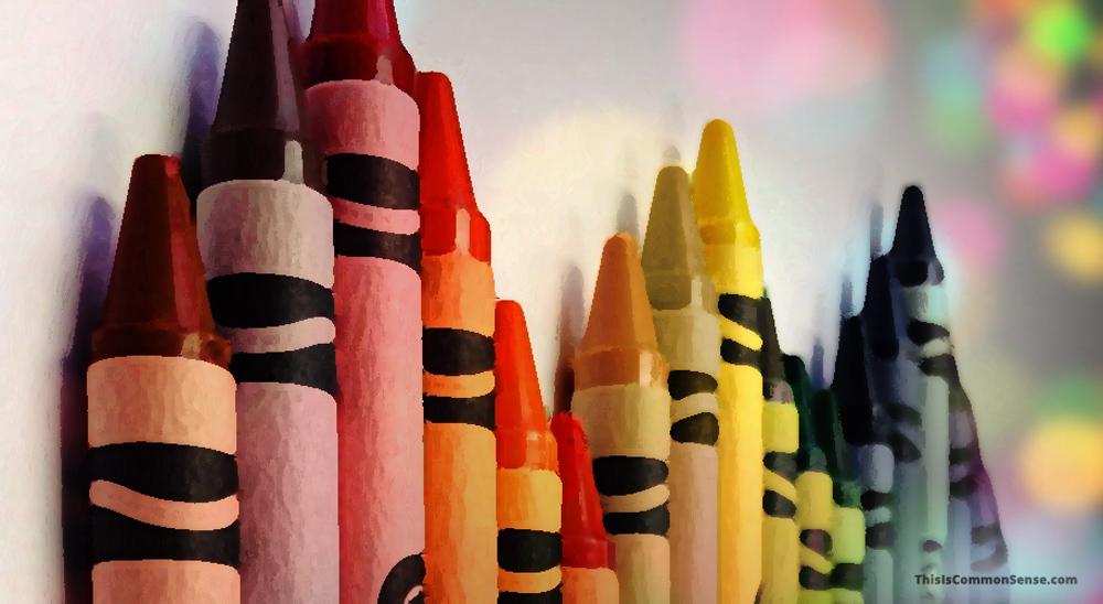 crayons, flesh, race,